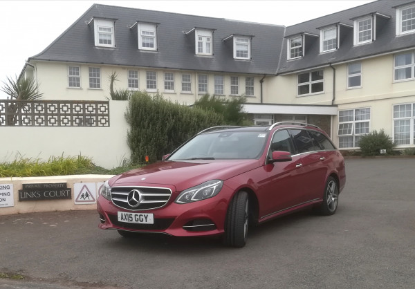 In South Devon with regular client - long distance travel in comfort and style with Ashford Executive Cars